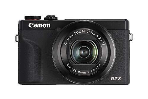 Canon PowerShot G7 X Mark III Digitalkamera (20,1 MP, 4,2-fach optischer Zoom, 7,5cm (3 Zoll) LCD-Touchscreen, klappbar, DIGIC 8, 4K, Full-HD, WLAN, Bluetooth, Blendenautomatik; Zeitautomatik) schwarz