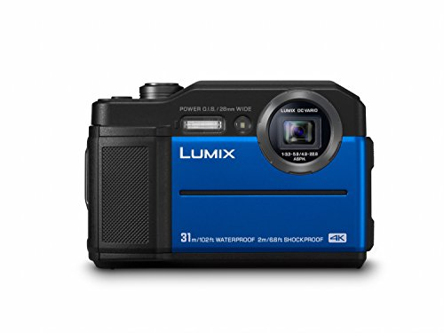 Panasonic LUMIX DC-FT7EG-A Outdoor Kamera (20,6 MP, 4K Foto, 4K Video, wasserdicht bis 31 m, USB, stoßfest bis 2m, blau)