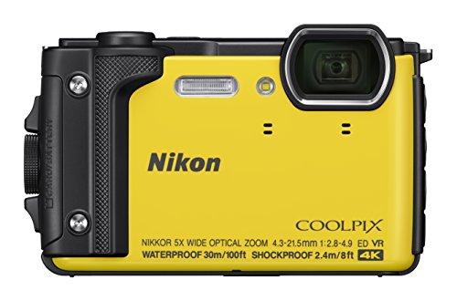 Nikon Coolpix W300 Digital Camera Gelb (16 MP, 5x Optical Zoom/7.6 cm (3 Zoll) LCD Display, 4 K UHD Video, bildstabilisiert)