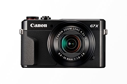 Canon PowerShot G7 X Mark II Digitalkamera (mit klappbarem Display, 20,1 MP, 4,2-fach optischer Zoom 7,5cm (3 Zoll) LCD-Display, Touchscreen) schwarz
