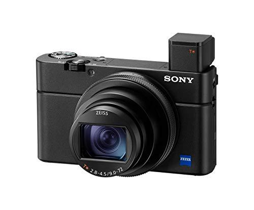 Sony RX100 VI   Premium-Kompaktkamera (1,0-Typ-Sensor, 24-200 mm F2.8-4.5-Zeiss-Objektiv, 4K-Filmaufnahmen und neigbares Display)